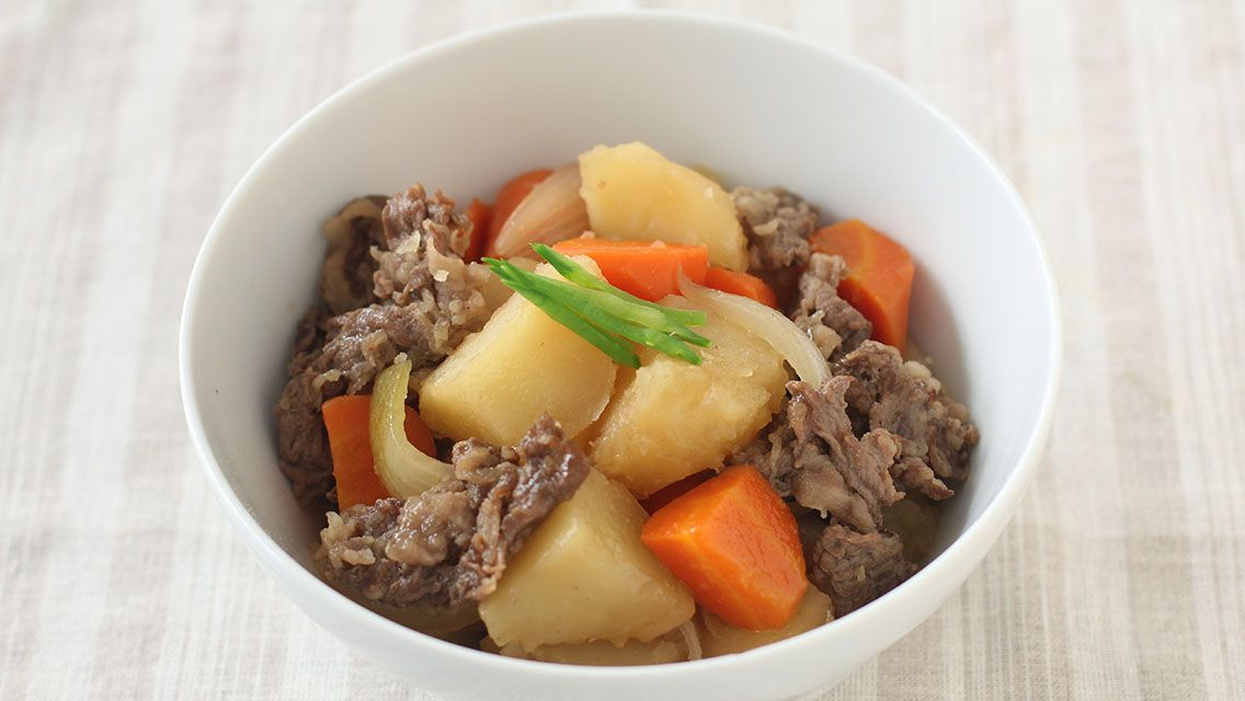 Japanese style beef and potato stew