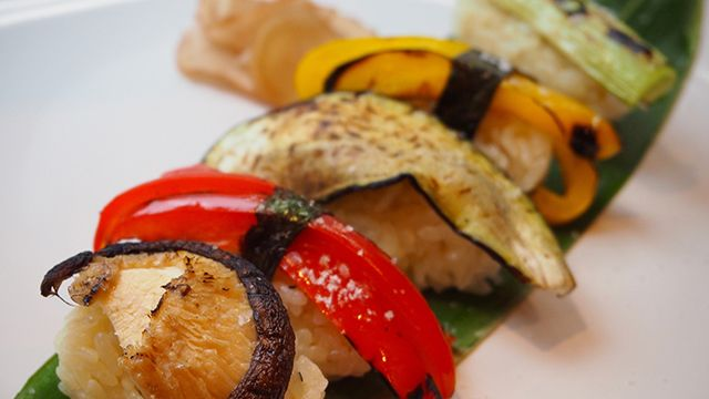 Sushi with Roasted Vegetables