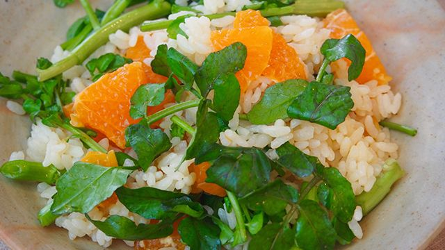 Chirashi (Scattered) Sushi with Orange and Watercress